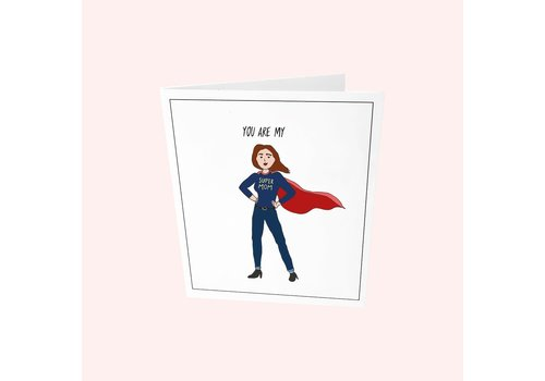 The Gift Label The Gift Label Greeting Card You Are My Super Mom
