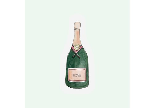 The Gift Label The Gift Label Greeting Cut Out Card Champagne