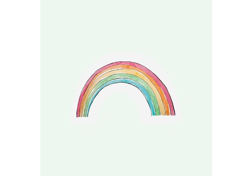 The Gift Label The Gift Label Greeting Cut Out Card Rainbow