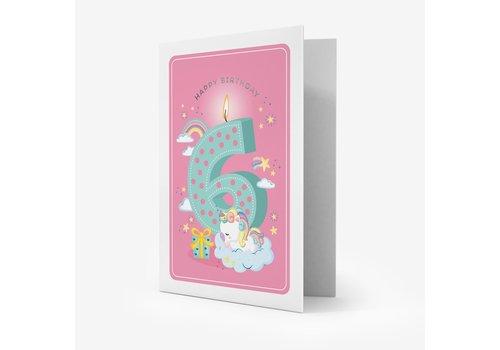 Legami Legami Greeting Card Happy Birthday Girls 6 years
