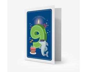 Legami Carte D Anniversaire Happy Birthday Garcon 9 Ans Fanthome Com