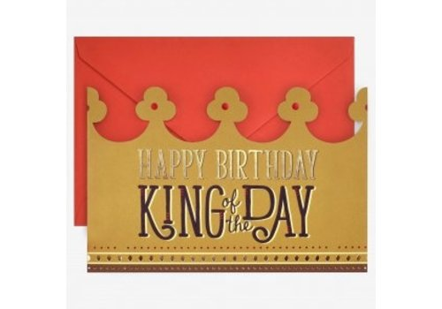 Legami Legami Greeting Cards  Happy Birthday Crown King of the Day