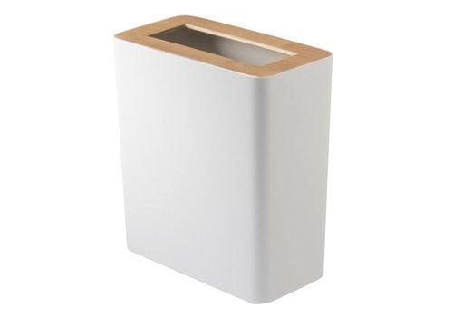 Yamazaki Yamazaki Rin Dustbin White-Wood