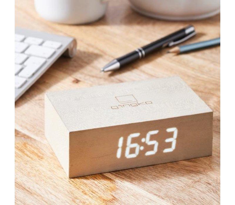 Gingko Flip Click Clock Wekker Hout