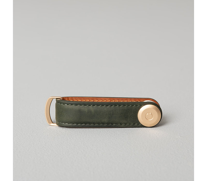 Orbitkey Crazy Horse Key Organiser Leather Forest Green