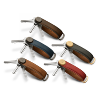 Orbitkey Crazy Horse Key Organiser Leather Oak Brown