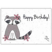 Bloom Greeting Card with Flower Seeds - Happy Birthday!