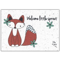 Bloom Greeting Card with Flower Seeds - Welcome Little Sprout