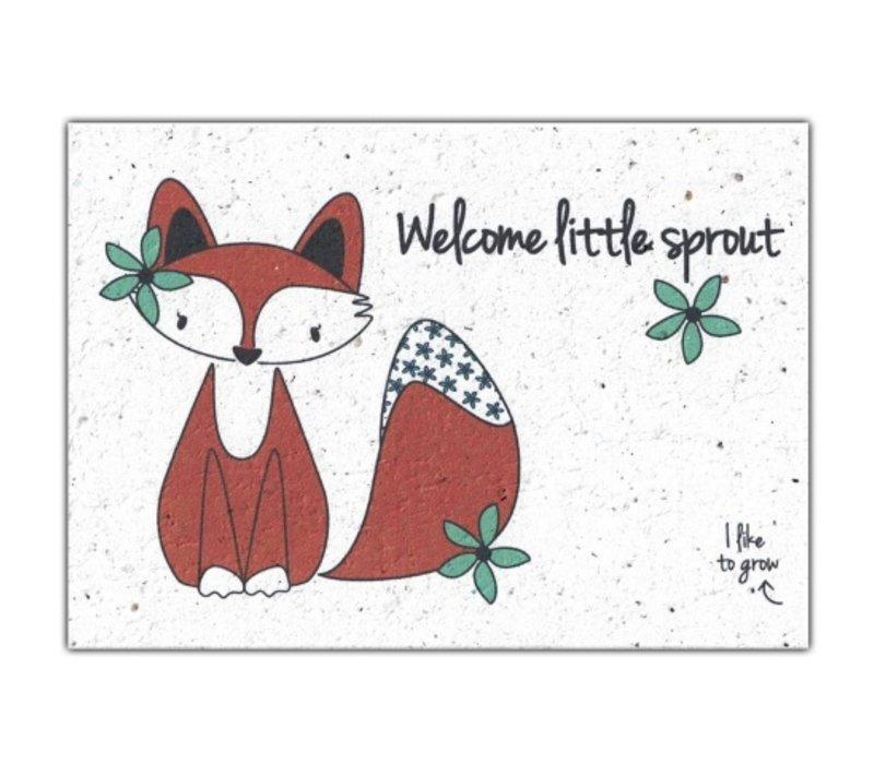 Bloom Bloeiwenskaart met Bloemenzaadjes - Welcome Little Sprout