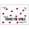 Bloom Bloom Greeting Card with Tomato Seeds - Tomatoes Make Me Smile