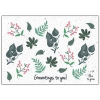 Bloom Wenskaart met Bloemenzaadjes - Greentings To You!