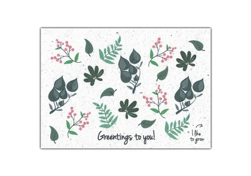 Bloom Bloom Greeting Card with Flower Seeds - Greentings To You!