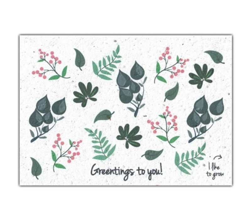 Bloom Greeting Card with Flower Seeds - Greentings To You!