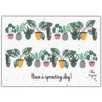 Bloom Wenskaart met Bloemenzaadjes - Have A Sprouting Day!
