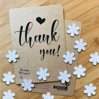 Bloom Greeting Card with Flowers  - Thank You!