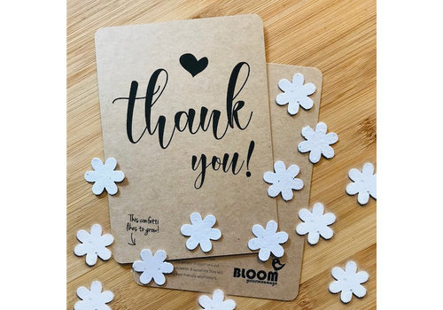Bloom Bloom Bloeiwenskaart met Bloemetjes - Thank You!