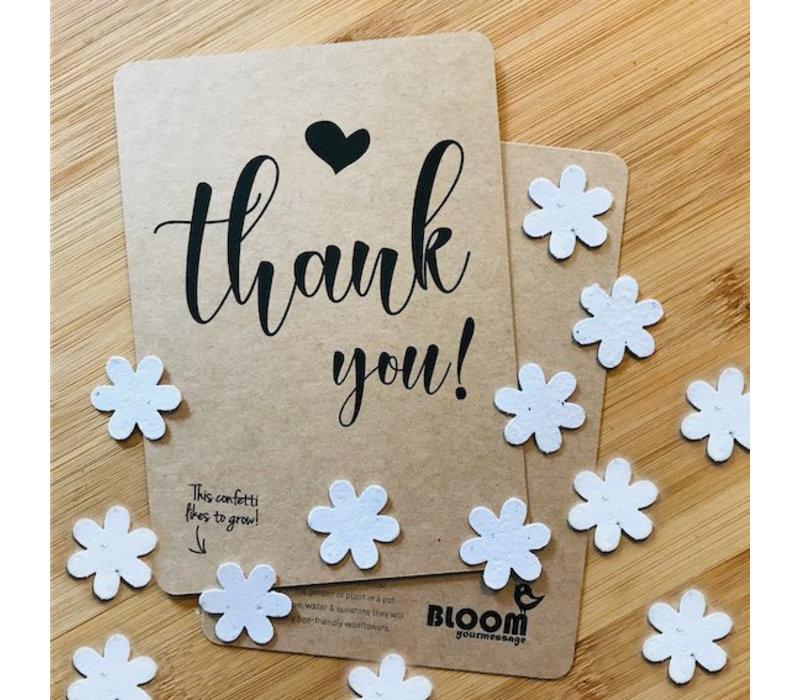 Bloom Bloeiwenskaart met Bloemetjes - Thank You!
