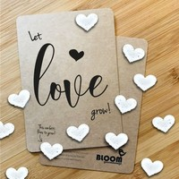 Bloom Greeting Card with Hearts  - Let Love Grow!