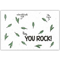Bloom Greeting Card with Rocket Salad Seeds - You Rock