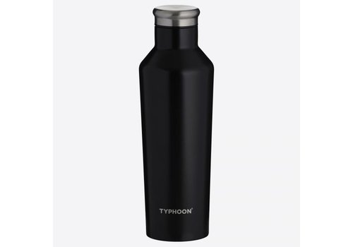 Typhoon Typhoon Pure Double-walled stainless steel Black 500ml insulating bottle
