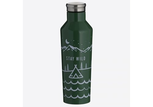 Typhoon Typhoon Pure Double-walled stainless steel Stay Wild 500ml insulating bottle Green