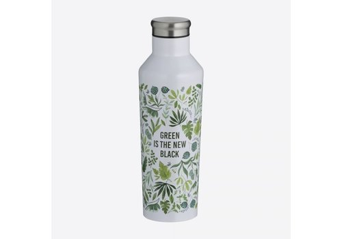 Typhoon Typhoon Pure Double-walled stainless steel Green is the New Black 500ml insulating bottle