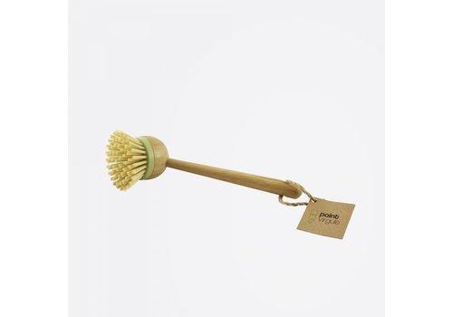 Point-Virgule Point-Virgule Afwasborstel met Vervangbare Borstelkop en Handvat uit Bamboe 23 cm