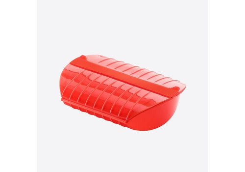 LEKUE Lekue Steam Case for Microwave for 3-4 pers Silicone Red