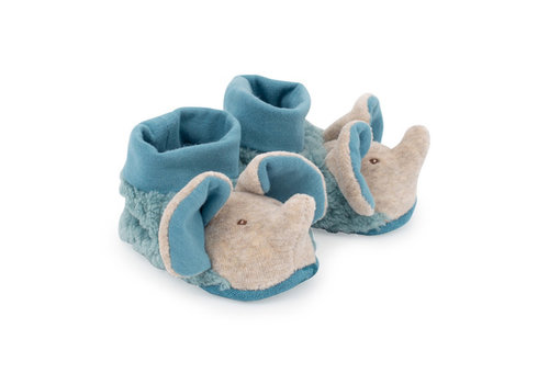 Moulin Roty Moulin Roty Baby Slippers Elephant Sous mon Baobab