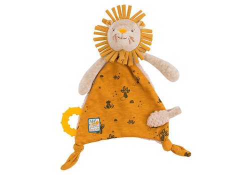 Moulin Roty Moulin Roty Pacifier Comforter 'Sous mon Baobab' Lion