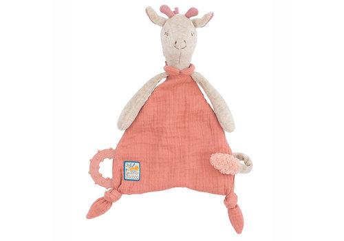 Moulin Roty Moulin Roty Knuffeldoekje voor Fopspeen 'Sous mon Baobab' Giraf