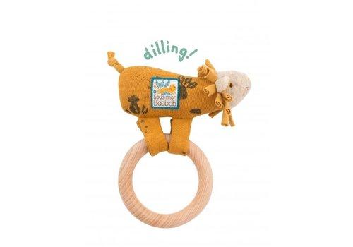 Moulin Roty Moulin Roty Houten Ring-Rammelaar Leeuw 'Sous mon Baobab'