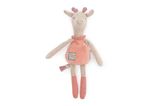 Moulin Roty Moulin Roty Baby Comforter/Rattle Giraffe 'Sous mon Baobab'