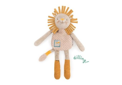 Moulin Roty Moulin Roty Baby Comforter/Rattle Lion 'Sous mon Baobab'