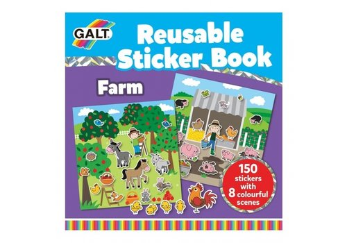 Galt Galt Reusable Sticker Book- Farm