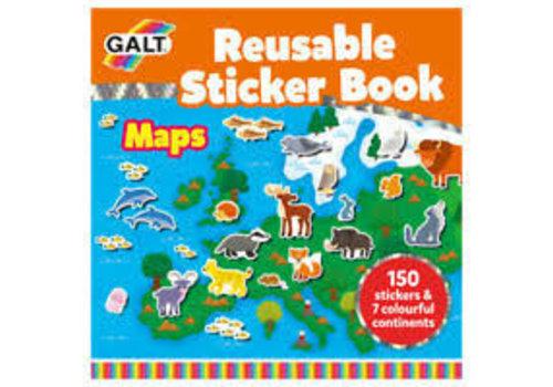 Galt Galt Reusable Sticker Book- Maps