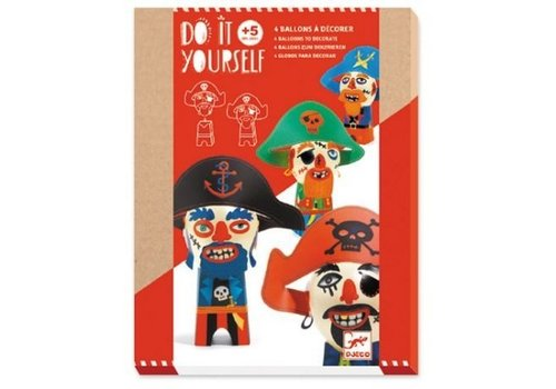 Djeco Djeco Do It Yourself Craft kit 4 Balloon Figures - Pirates