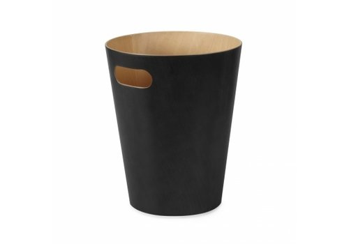 Umbra Umbra Woodrow Trash Can Black/Natural