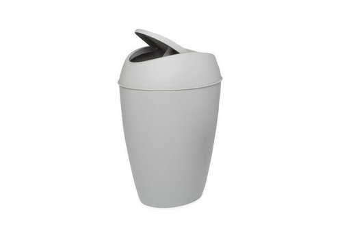 Umbra Umbra Twirla Trash Can with Swing-Top Lid Grey 9L