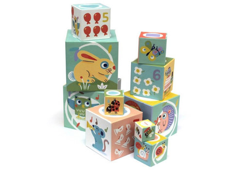 Djeco Djeco Stacking blocks Babybloki
