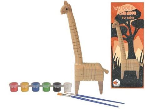 Egmont Toys Egmont Toys Houten Giraf om te Schilderen