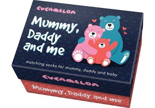 Odd Socks ODD Socks Mum-Dad-Baby Box met 3 Paar Sokken