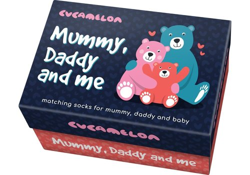 Odd Socks ODD Socks Mum-Dad-Baby Box with 3 Pairs of Socks