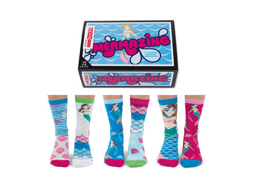 Odd Socks ODD Socks Dames Sokken Mermazing in Box 3 paar maat 37-42