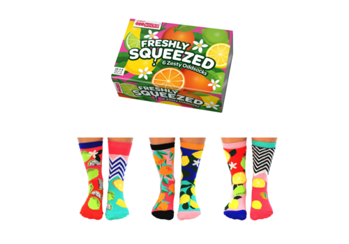 Odd Socks ODD Socks Dames Sokken Freshly Squeezed in Box 3 paar maat 37-42