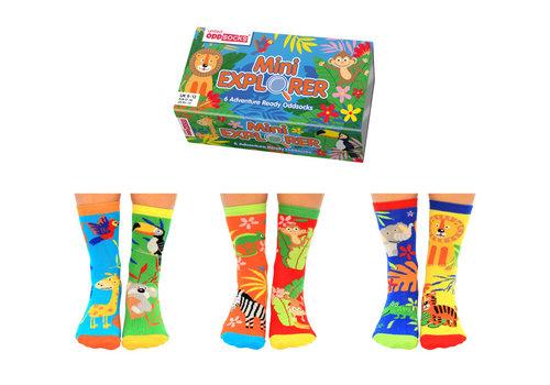 Odd Socks ODD Socks Mini Explorer Set met 3 Kindersokken maat 27-30