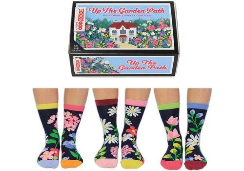 Odd Socks ODD Socks Lady Socks in a Box Up The Garden Path 3 pairs size 37-42