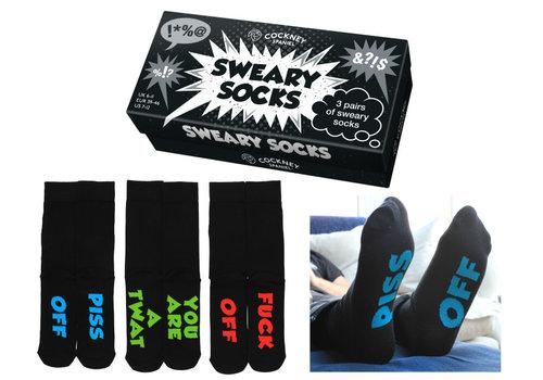 Odd Socks ODD Socks Mannensokken Sweary Socks in Doos 3 paar maat 39-46