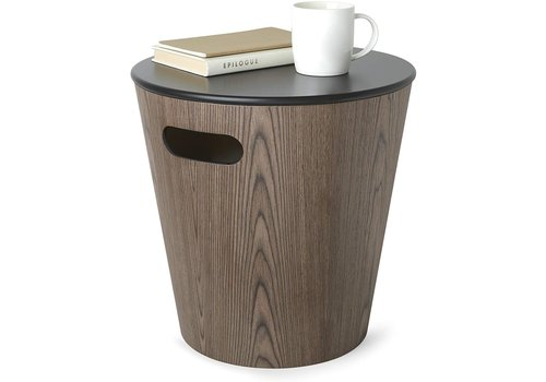 Umbra Umbra Woodrow Storage Stool Black/Walnut