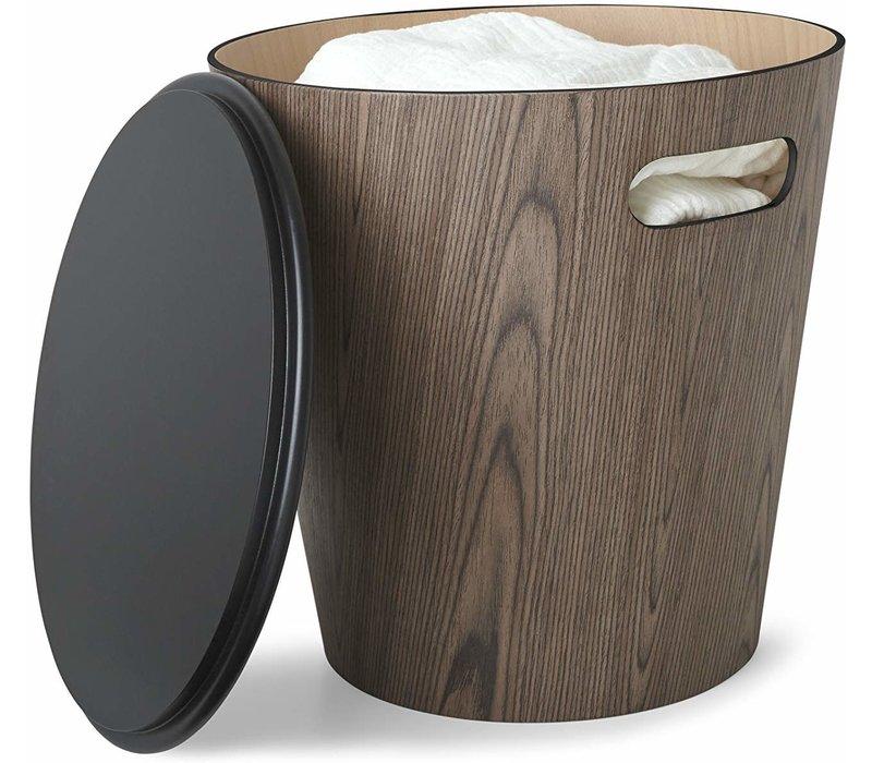 Umbra Woodrow Storage Stool Black/Walnut